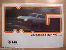 MG 1975 Range Sales Brochure reference 3054/A