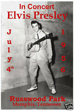 1950's: Elvis Presley at  Russwood Park, Memphis Concert Poster from 1956
