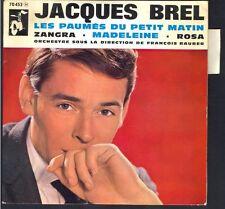 """JACQUES BREL 45T EP Biem / BARCLAY 70.452 """" Madeleine """" Pochette NEUVE+Languette"""