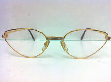 Vintage Cats Eyes Glass Cartier Frame 135 Golden Frame 125 mm Without Case