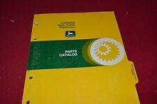 John Deere Quik Tatch Platforms Dealer's Parts Book Manual PANC