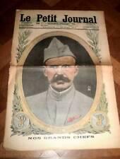 LE PETIT JOURNAL du 11 FEVRIER 1917.LE GENERAL DEBENAY en couverture