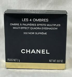 Chanel Les 4 Ombres Multi Effect Quadra Eyeshadow ~ 332 NOIR SUPRÊME ~ .07 Oz 2g