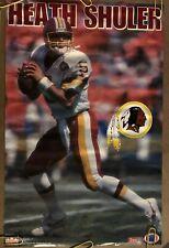 Heath Shuler Original Vintage Poster NFL Football Washington Redskins 1994 90s