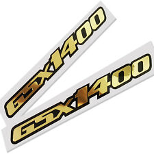 GSX 1400 motorcycle decals custom graphics gold chrome &  on black