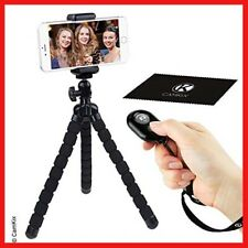 Flexible Cell Phone Tripod and Bluetooth Remote Control Camera Shutter - for and