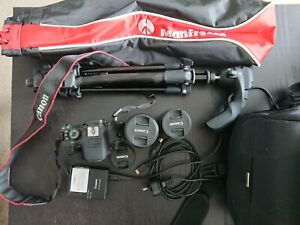 Canon  EOS 700D SLR Camera + Lens 55-250MM + Lens 18-55M + Tripod + bag
