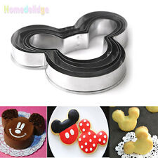 5Pcs Mickey Mouse Cookies Cutter Pastry Biscuit Cake Decor Diy Mold Mould Tools