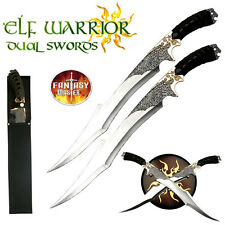LOR Elven Warrior Sword Separates to 2 Swords Sheath & Wall Plaque Included #411