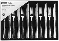 Judge Windsor 12 Piece Steak Set Quality Stainless Steel Boxed Knives & Forks
