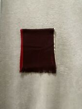 Mens Hugo Boss Brown Wool Scarf