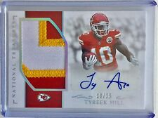 2016 National Treasures TYREEK HILL 3 COLOR JUMBO Logo Patch AUTO SSP #18/25 RC