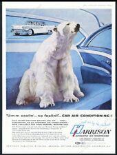 1958 polar bear photo GM Harrison air conditioning vintage print ad