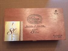 RARE 1926 PADRON ANNIVERSARY 80 YEARS MADURO WOODEN CIGAR BOX SUPERB