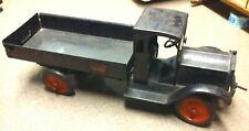 VINTAGE 1920S KEYSTONE BUDDY L PACKARD DUMP BODY TRUCK PRESSED STEEL TOY 27 IN