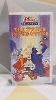 The Sword in the Stone - Disney Classics - VHS Video Tape Children's TBLO