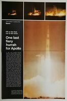 1972 Magazine Photo Article Apollo 17 Space Moon Launch Rocket