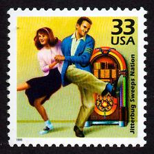 UNITED STATES, # 3186-G, JITTERBUG SWEEPS NATION, ROCK N ROLL MUSIC, DANCING,MNH
