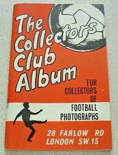 The Collectors Club Album. Empty photographs / postcard album from the 1960s