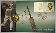 1997 - Sir Donald Bradman Tribute - PNC with $5 coin - Australia Cat. Value $35