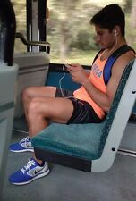 Male Athletic Muscular Beefy College Jock Riding Bus in Shorts PHOTO 4X6 C762
