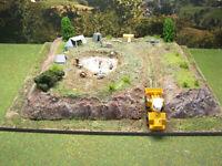 Dinosaurier Expedition Ausgrabung Diorama Modelleisenbahn Modellbau H0 1:87 #3