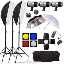 900W Studio Flash Lighting set (3 x 300W) Photography Strobe Light Portrait Kit