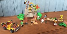 Vtg Playmobil Safari Jungle Set: Ruins, Rope Bridge, Jeep