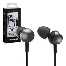 NEW Panasonic Earphones Earbuds Headphones 3.5mm Jack Model RP-TCM360E-P - Black