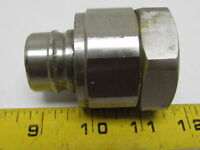 """1"""" Female NPT Quick-Connect/Release Hydraulic H-shape Hose Coupling Stainless"""