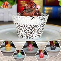 50pcs Little Vine Lace Laser Cut Cupcake Wrapper Liner Baking Cup Party Decor W