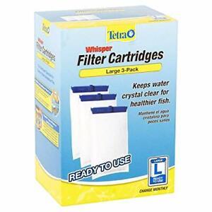 Whisper Large Aquarium Filter Cartridge 3pk