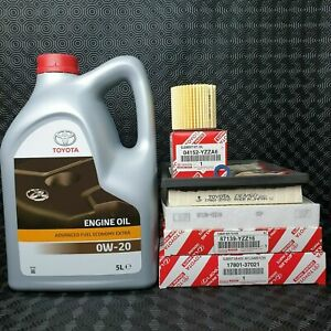 GENUINE TOYOTA AURIS HYBRID SERVICE KIT 2011 TO 2018 1.8LMODEL 0W20 OIL&FILTERS