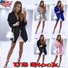 Womens Winter Trench Coat Duster Waterfall Cardigan Long Jacket Drape Outwear
