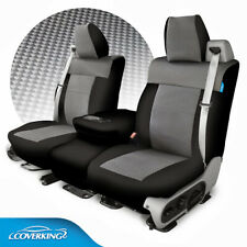 Coverking Carbon Fiber Print Neosupreme Front & Rear Seat Covers for Dodge Ram