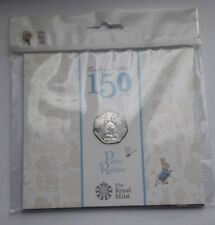 UK Royal Mint 2016 Beatrix Potter Peter Rabbit 50p Fifty Pence Coin Pack BU, New