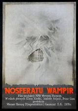 NOSFERATU THE VAMPYRE KLAUS KINSKI WERNER HERZOG ZARADIEWICZ ART 1979 POLISH