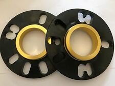 2 X 10mm BIMECC BLACK HUB CENTRIC SPACERS FITS VOLKSWAGEN 57.1