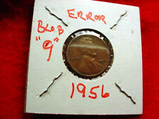 """1956 LINCOLN CENT MINT ERROR """"BLOB 9"""" ON OBVERSE OF LINCOLN!!   #802"""