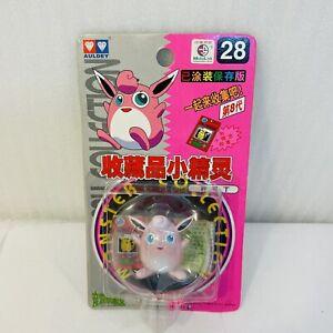 Vintage 1998 TOMY Pokemon AULDEY Wigglytuff Figure #28 Japan New and Sealed