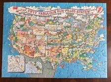 New listing Vintage Hallmark Usa Puzzle 100 Pcs 50 Fabulous Fun Filled States Educational