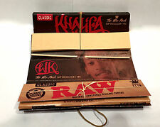 2 Packs RAW Wiz Khalifa The Wiz Pack Rolling Papers Classic King Size Slim tips