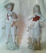 Vintage Pair of Shepherd and Shepherdess Porcelain Figurines-Made in Germany