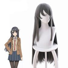 Rascal Does Not Dream of BunnyGirl Sakurajima Mai Long Straight Gray Cosplay Wig