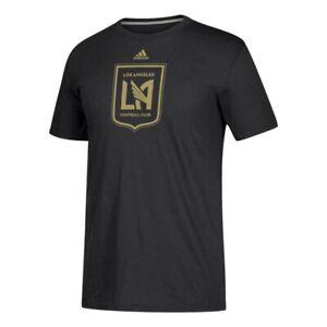 "Los Angeles FC MLS Adidas Men's Black ""Redirection"" Team Logo Climalite T-Shirt"