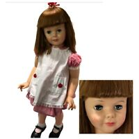 Ideal PATTI PLAY PAL 35in DOLL Vintage 1960s Original Red White Dress Pinafore