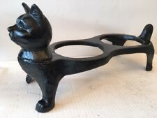 """New listing Vintage Cast Iron Cat Dish Bowl Feeder Stand Holder 16 x 7 1/2 x 6 """""""