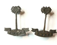 WW2 Royal west African Frontier Force Officers Collar Badges Original