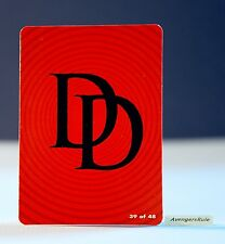 Marvel Hubsnaps Checklist Card 39 of 48 Daredevil Logo