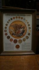 United States 20th Century Type Coin Set Framed Morgan Silver Collection c1972